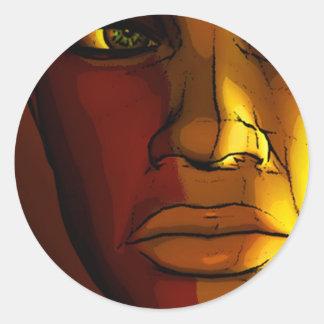Mepris Classic Round Sticker