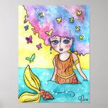Mer-Butterflies Art Poster