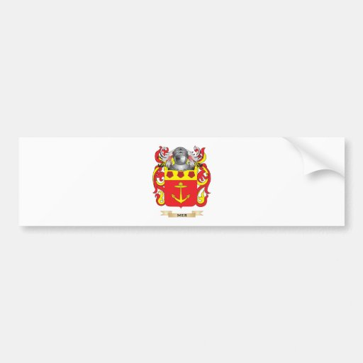 Mer Coat of Arms (Family Crest) Bumper Sticker