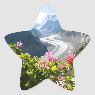 Mer de Glace - Chamonix France Star Stickers