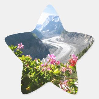 Mer de Glace - Chamonix Francia Calcomanías Forma De Estrellaes Personalizadas