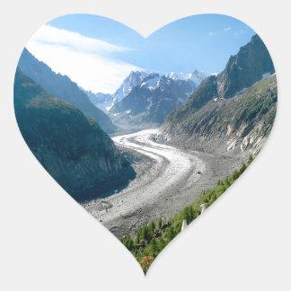 Mer de Glace - Chamonix Francia Pegatina En Forma De Corazón