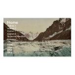 Mer de Glace, Mont Blanc, Chamonix Valley, France Business Card Template