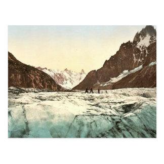 Mer de Glace, Mont Blanc, Chamonix Valley, France Postcard