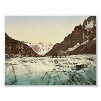Mer de Glace, Mont Blanc, Chamonix Valley, France Poster