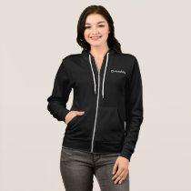 Merakey Logo Black Women's Zip-Up Hoodie