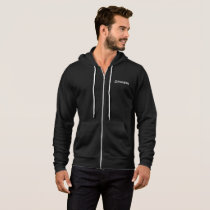 Merakey Logo Black Zip-Up Hoodie