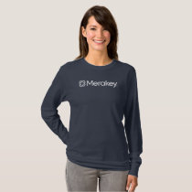 Merakey Logo Navy Women's Long-Sleeve T-Shirt