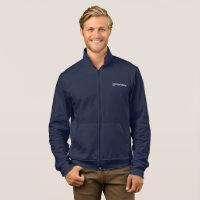 Merakey Logo Navy Zip Jogger Jacket