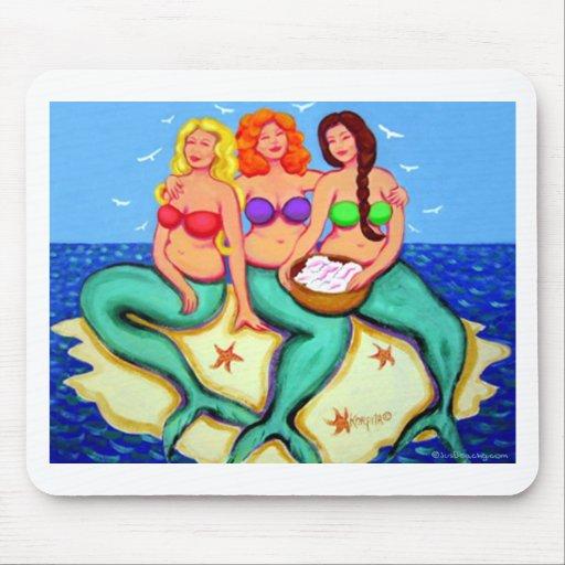 Merbabes - Mermaids Just Having Fun Mouse Pad