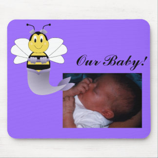 MerBee Bumble Bee Baby Picture Mousepad
