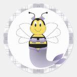 MerBee manosea al pegatina de la abeja