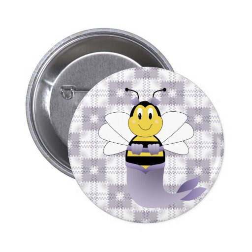 MerBee manosea el botón de la abeja Pin