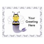 MerBee manosea la postal de la abeja