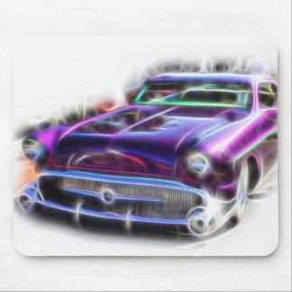 Merc Mercury Hotrod Mouse Pad Purple Flames Rodder