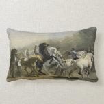 Mercado 1855 del caballo de París Almohada