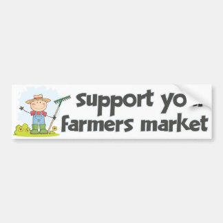 Mercado 1 de los granjeros de la ayuda pegatina para auto