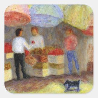 Mercado al aire libre, pegatina