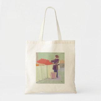 Mercado al aire libre que hace compras, bolso bolsas