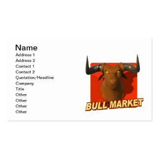 Mercado alcista 2 plantilla de tarjeta de negocio