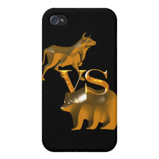 Mercado alcista contra mercado bajista iPhone 4/4S carcasa