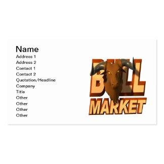 Mercado alcista plantilla de tarjeta de negocio