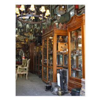 Mercado antiguo en la postal de Atenas Grecia