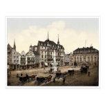 Mercado, Bonn, el Rin, Alemania magnífica Tarjeta Postal