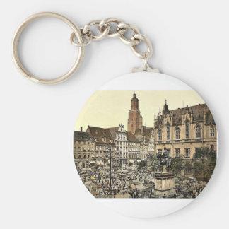 Mercado, Breslau, Silesia, Alemania (es decir, Wro Llaveros Personalizados