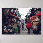 Mercado callejero de Suzhou Poster