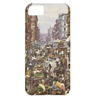 Mercado callejero New York City 1900 de la mora