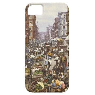 Mercado callejero New York City 1900 de la mora iPhone 5 Protectores
