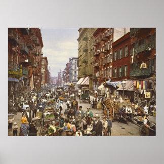 Mercado callejero New York City 1900 de la mora Impresiones