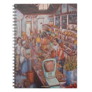 Mercado central en cuaderno del PA de la ciudad de
