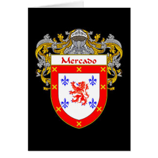 Mercado Coat of Arms/Family Crest Card