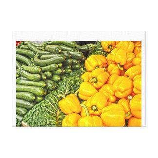 Mercado continental impresiones de lienzo