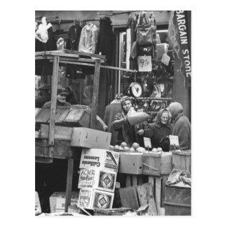 Mercado de Brownsville Brooklyn 1962 Tarjeta Postal