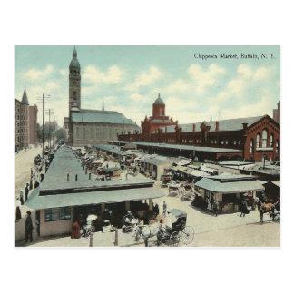Mercado de Chippewa del vintage búfalo Nueva Yor Postales