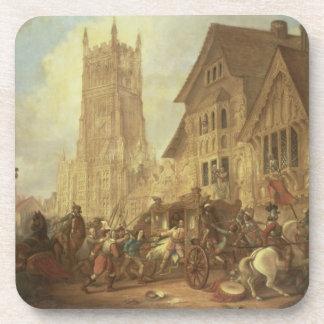Mercado de Cirencester, con la abadía y la K Posavasos
