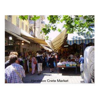 Mercado de Heraklion Creta Tarjetas Postales