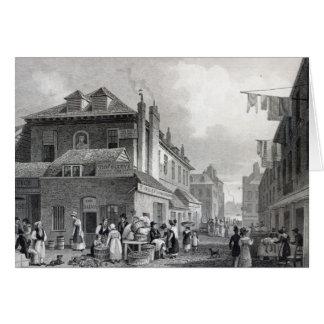 Mercado de Hungerford, filamento, Thomas grabado Tarjeta De Felicitación
