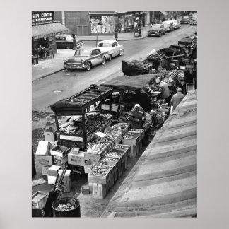 Mercado de la carretilla de mano de Brooklyn: 1960 Poster