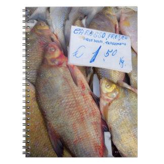 Mercado de la comida en Italia Libros De Apuntes
