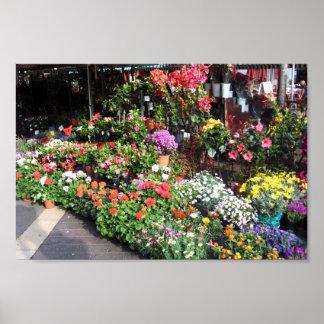 Mercado de la flor en Niza en Francia Impresiones