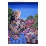 Mercado de la flor, por Darlene P. Coltrain Tarjeta De Felicitación