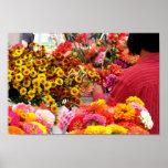 Mercado de la flor poster