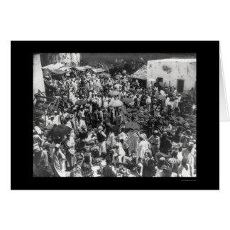Mercado de la fruta de Zanzíbar 1902 Tarjetas