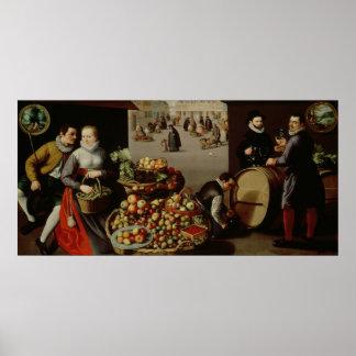 Mercado de la fruta póster