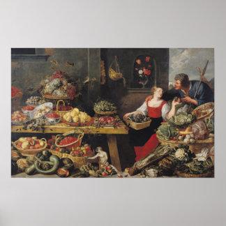 Mercado de la fruta y verdura posters