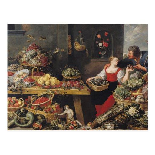 Mercado de la fruta y verdura postales
